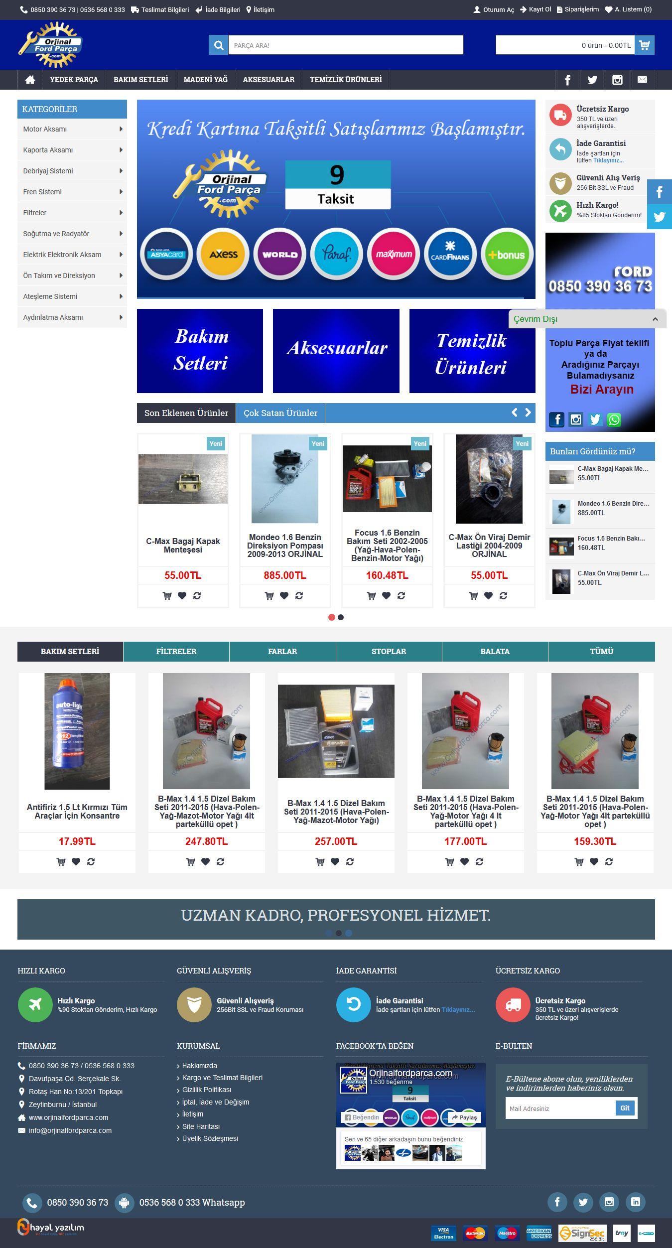 E-Ticaret : www.OrjinalFordParca.com