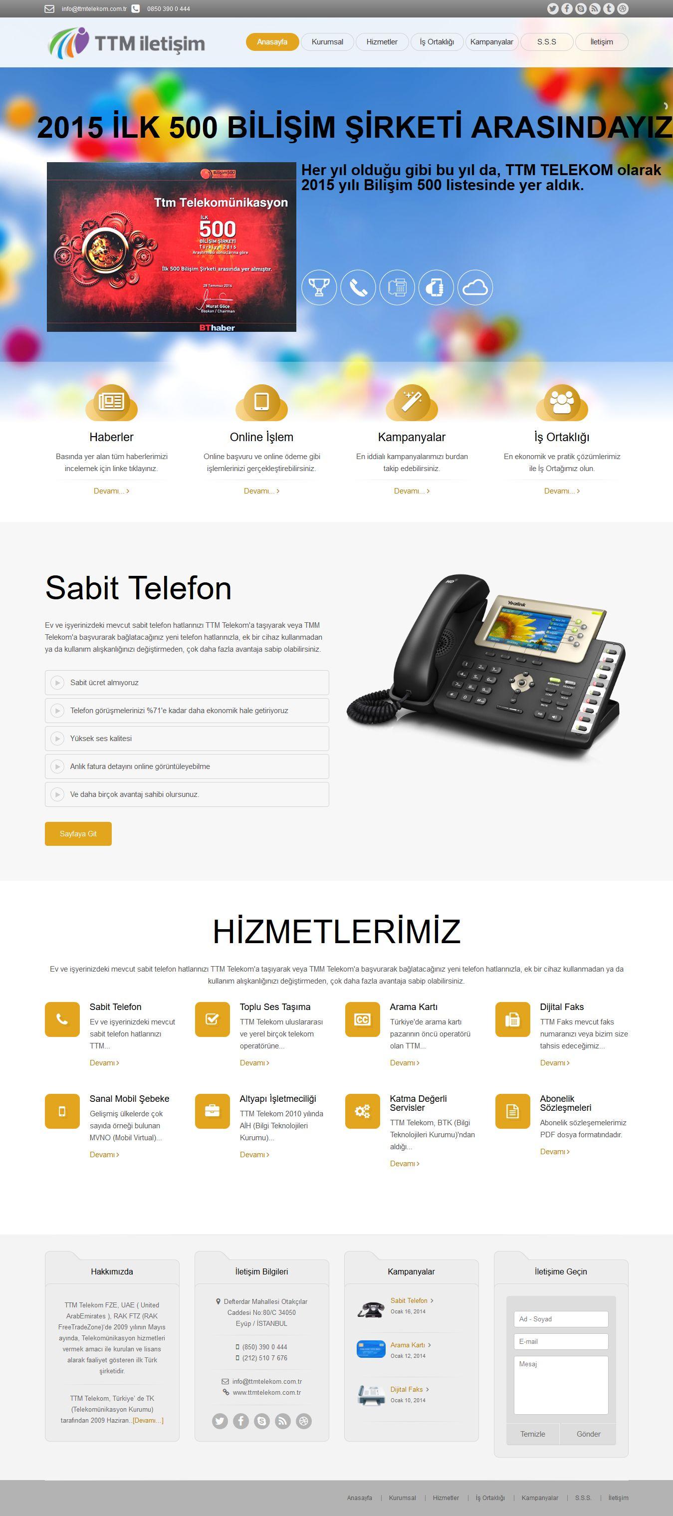 Ttm Telekom A.ş - www.ttmiletisim.com.tr